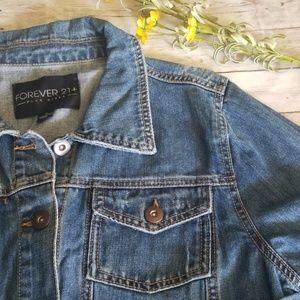 Forever 21 Jackets & Coats - Forever21 Jean Jacket